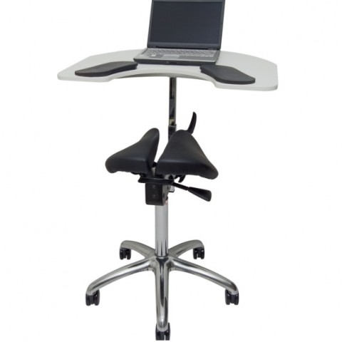 Ergonomic chair with integrated table SALLI ELBOW TABLE
