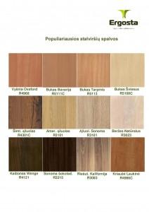 Populiariausios stalviršių spalvos