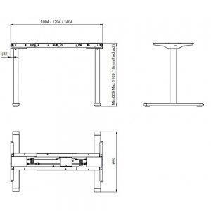 Reguliuojamo aukščio stalo kojos Ergos GF 470