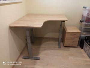 Keičiamo aukščio kampiniai stalai Ergos RD650