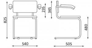 Lankytojų kėdės SYLWIA LUX ARM