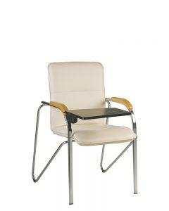 Lankytojų kėdės su atlenkiamu staliuku SAMBA T PLAST