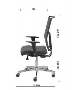 Ergonominės kėdės DELTA WHITE